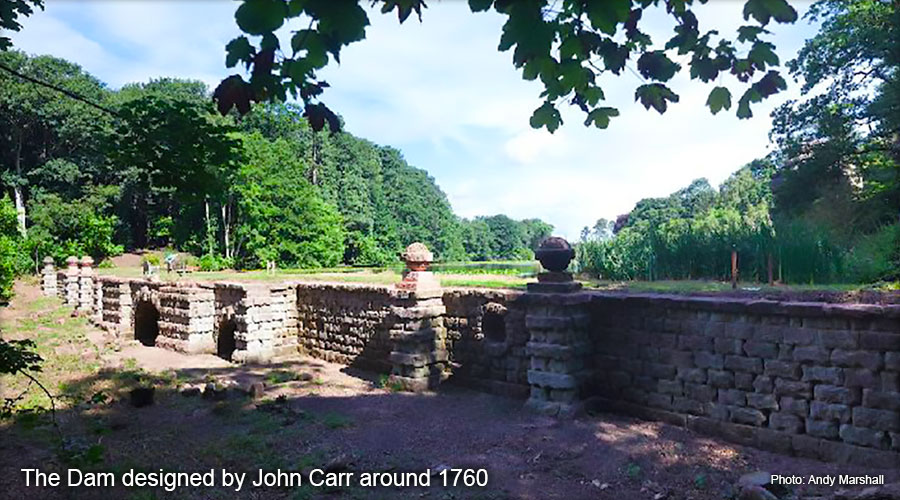 Plumpton Rocks - The Dam designed by John Carr around 1760